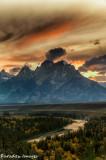 Sunset Over Les Grand Tetons