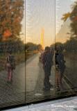 Vietnam Veterans Memorial Sunset