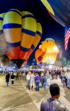 Hot Air Balloons perform their glow