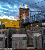 Washington Roebeling Bridge Nightfall