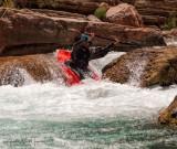 Kayaker on Havasu Creek - River Mile 157.3