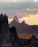Sunset over El Agathla 1 (Near Kayenta)