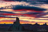 Sunset over El Agathla 2 (Near Kayenta)