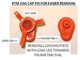KTM Gas Cap Fix- INSTALL ORIENTATION