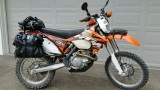 KTM 500 with Soft Bags