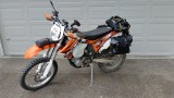 KTM 500 with Soft Bags- Adventure Ready