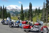 Mt Ranier and Chinook Pass on Harley Road King