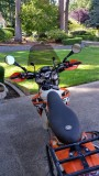KTM 500 with Motominded HL, Windscreen, and Globetrottin Bag Rack