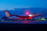 2013 - GOL Transportes Aereos B737-8EH PR-GUH takeoff at dusk aviation airline stock photo