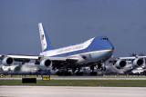 President Clinton departing Miami International Airport onboard Air Force One USAF VC-25A 92-9000 stock photo #UM9601