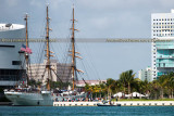 2014 - USCGC EAGLE (WIX-327) arriving at downtown Miami's new waterfront Museum Park from Cozumel, Mexico stock photo #5290