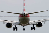 2014 - American Airlines B737-823 on short final approach to DCA aviation airline stock photo #5704C