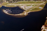 2014 - aerial photo of Peter O. Knight Airport at the south end of Davis Island in Tampa aviation stock photo #6121CC