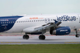 2014 - first flight landing on FLL's new runway 10-right (JetBlue A320-232 N709JB)
