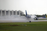 2014 - first flight rolling out on FLL's new runway 10-right (JetBlue A320-232 N709JB)