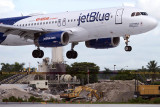 2014 - first flight to land on FLL's new runway 10-right (JetBlue A320-232 N709JB)