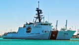 2014 - the brand new USCGC HAMILTON (WMSL-753) in Government Cut in Miami