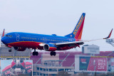 2015 - Southwest Airlines B737-8H4(WL) N8329B rare landing on runway 28 airline aviation stock photo #9347