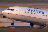 2015 - United Airlines B737-924ER N66828 rare takeoff on runway 28 at TPA aviation airline stock photo #9378C