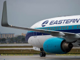 New Eastern Airlines B737-8CX N277EA taxiing after landing aviation airline stock photo