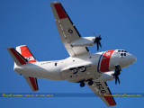 October 2016 - Coast Guard Alenia C-27J Spartan #CG-2714 enroute to CG Air Station Miami at OPF aviation stock photo