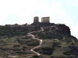 First view of Temple of Poseidon about 5 mins. out.