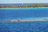 The atoll is small - only 21 km wide but its lagoon dangers are well marked. For 3rd of 3 times, we were only ship in port.