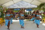 When we came ashore, we were given a flower & were greeted by dancers & music.