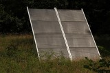 Single solar panel on your left on way to tiny parking area near nest