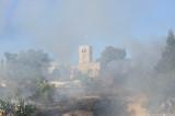 Fire near Scottish Church