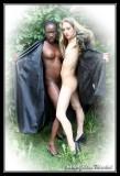 Carolina & Kumba, naked in the garden