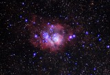 M8 The Lagoon Nebula,@ 450 sec, ISO 800,5,00 Ly from Earth