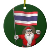 Santa Claus With Flag Of Thailand
