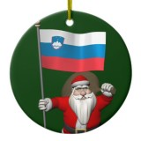 Santa Claus With Flag Of Slovenia