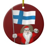 Santa Claus With Flag Of Finland
