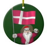 Santa Claus With Flag Of Denmark