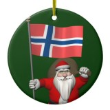 Santa Claus With Flag Of Norway
