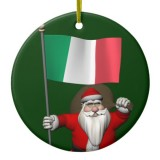 Santa Claus With Flag Of Italy