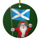 Santa Claus With Flag Of Scotland
