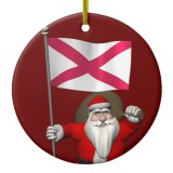 Santa Claus With Flag Of Northern Ireland