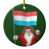 Santa Claus With Flag Of Luxembourg