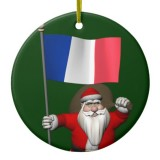Santa Claus With Flag Of France