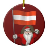 Santa Claus With Flag Of Austria