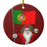 Santa Claus With Flag Of Portugal