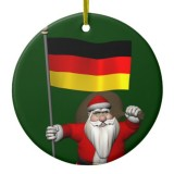 Santa Claus With Flag Of Germany