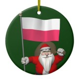 Santa Claus With Flag Of Poland