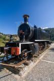 Antiga locomotiva a vapor da linha do Vale do Vouga
