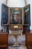 Tríptico da Vida de Cristo, de autor desconhecido, restaurado por Luciano Freire, em 1930