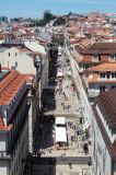 A Rua Augusta Vista do Arco