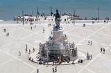 O Monumento a D. José e o Cais das Colunas